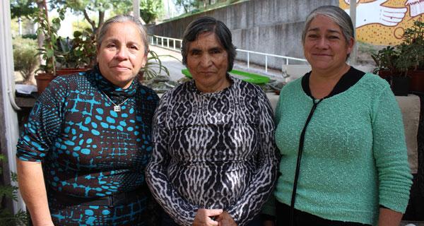 Gloria Carrera, Juana Gallegos e Inés Valenzuela.