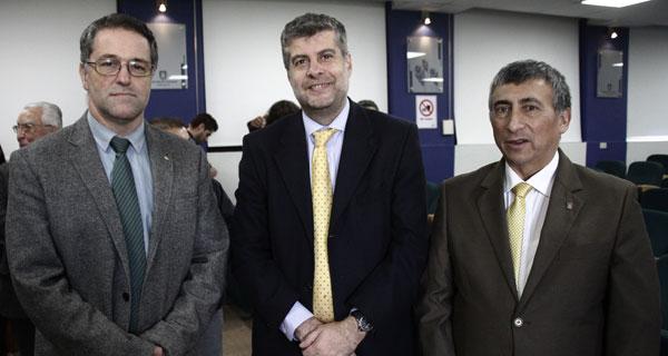 José Luis Arumí, Francisco Mesa y Luis Seminario.