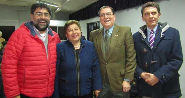 Juan Díaz, Brígida Hormazábal, Patricio Huepe y Camilo Benavente.