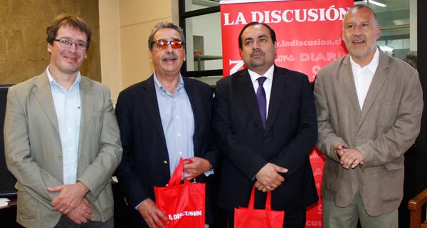 Pedro Vicario, Carlos Abel Jarpa, Enrique Inostroza y Francisco Martinic.