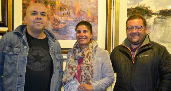 Eduardo Hernández, Paula del Valle y Rodrigo Barriga.