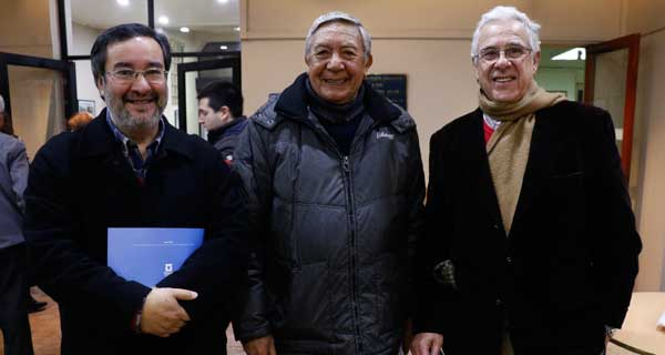 Julio Utreras, Carlos Abarzúa y Carlos Casanova.