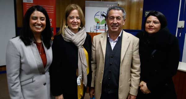 María Eugenia González, María José Etchegaray, Rodrigo García y Claudia Suazo.