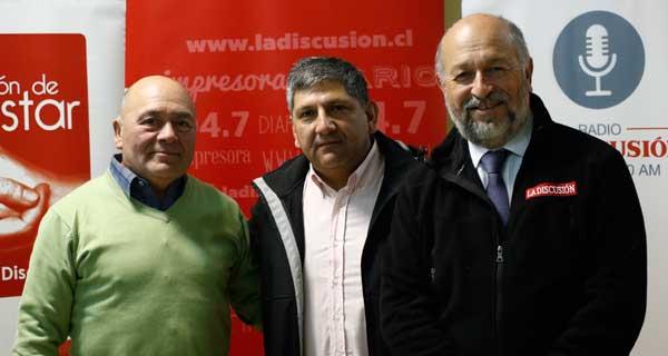 Víctor Venegas, Patricio Saldías y José Perotti.