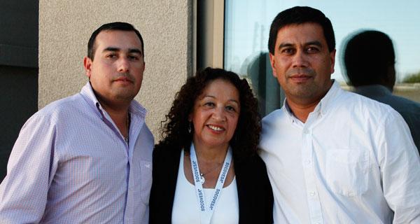 Luis Concha, Olivia Romero y Ariel Flores.