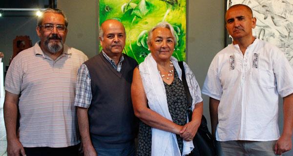Héctor Rodríguez, Damián Fuentealba, María Eugenia Uribe y Víctor Sepúlveda.