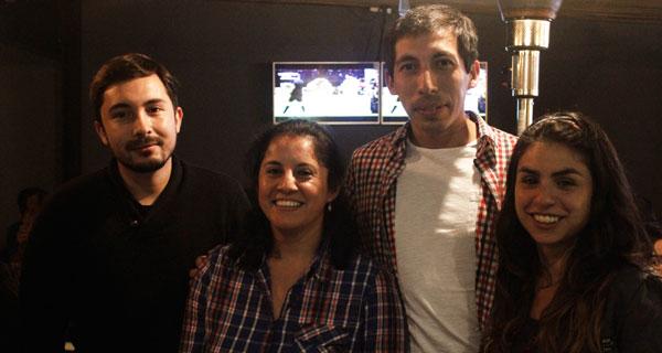 Gustavo Riveros, Verónica Fuentealba, Iván Urrea y Maurine Sepúlveda.