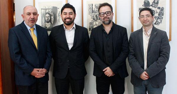 Benito Umaña, Tadashi Takaoka, Álvaro Acuña y Luis Gajardo.