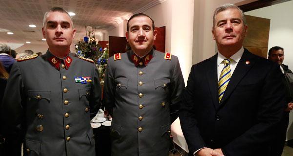 Alejandro Sandoval, Óscar Rojas y Arturo Merino.
