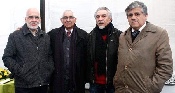 Juan Sade, José Poblete, Carlos Fernández y Manuel Chávez.