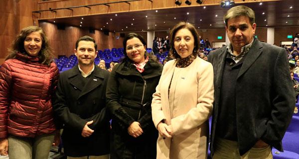 Paz Saavedra, Enrique Sepúlveda, Marité Gaete, Claudia Rigall y Claudio Crisóstomo.