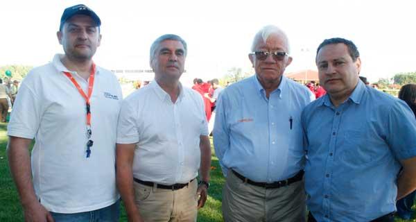 Cristian Venegas, Antonio Palavecino, Carlos Iturra y Rafael Espinosa.
