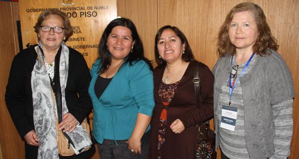Carmen Guiñez, Maritza González, Yenny Pradenas y María Isabel Rozas.