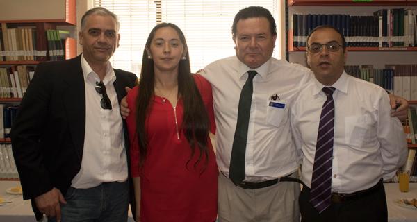 Julio Mallea, Marcela Durán, Rolando Leiva y Claudio Rodríguez.