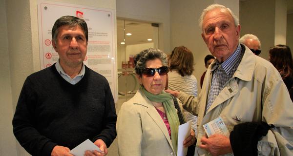 Julio Pinilla, Alicia Castillo y José Pinilla.