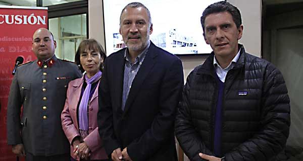 Patricio Goycochea, Vilma Paci, Francisco Martinic y Camilo Benavente.