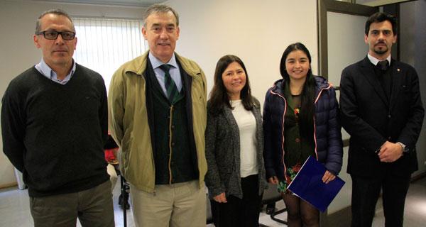 Carlos Figueroa, Óscar Skewes, Alejandra Pelayes, Camila García y Elías Karmach.