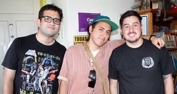 Pablo Bivort, Flavio Donoso y Roberto Aldunate.