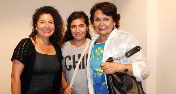 Paola Ayalef, Génnesis Roa y Gloria Maita.