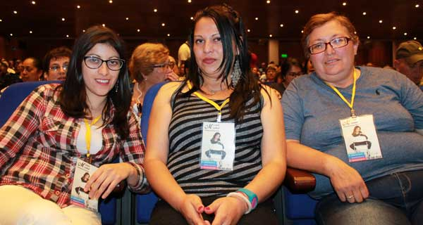 Marisol Viveros, Angélica Herrera y Patricia Jiménez.
