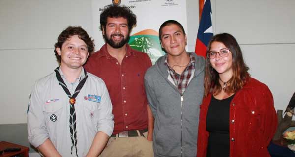 Sergio Benavides, Sebastián Zagal, Patricio Antecao y Catalina Luengo.