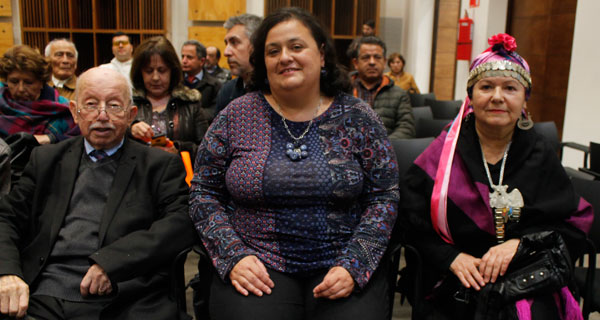 Carlos René Ibacache, Úrsula Villavicencio y Lucy Catricheo.