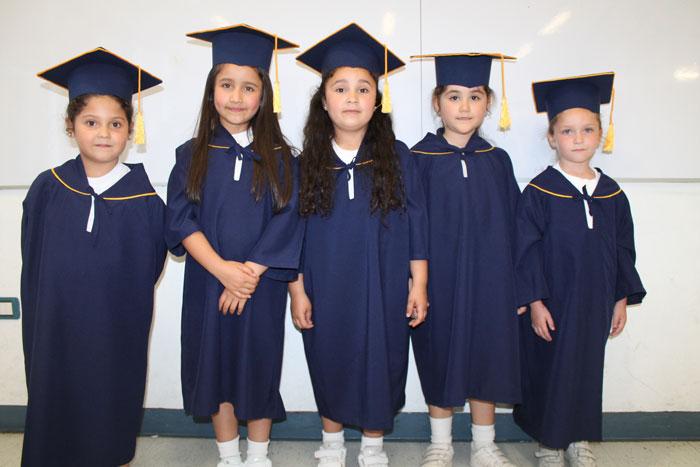Camila Cerda, Catalina Fuentes, Ignacia Mora, Florencia Inostroza y Sofía San Martín.