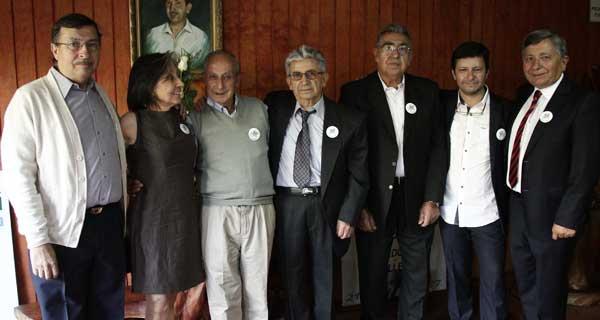 Jorge Bocaz, Cecilia Bocaz, Juan Cedeño, Venancio García, Luis Fuentes, Ricardo Rocaz y Alejandro Bocaz.