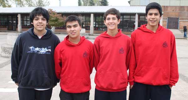 Felipe Silva, Joaquín Cofré, Víctor Silva y Martín Gallegos.