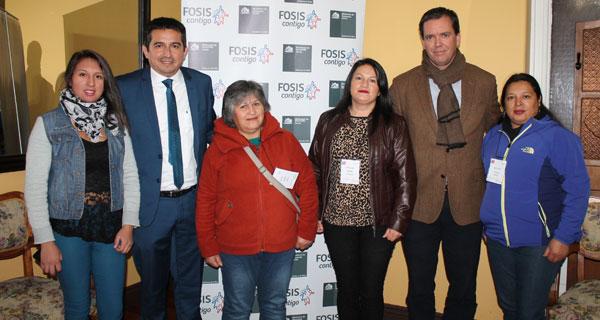 Génesis Vergara, Claudio Guíñez, María Avilés, Carolina Acuña, Felipe Harboe y Marjorie Vergara.