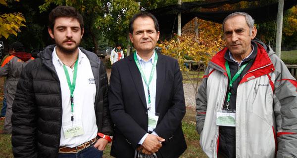 Carlos Avilés, Modesto Sepúlveda y Eugenio Ortiz.