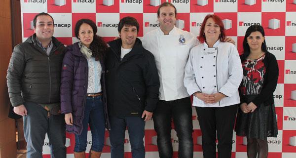 Jaime Guíñez, Priscilla Saldías, Gustavo Durán, Mikel Zulueta, Wilma Parra y Leyla Acuña.
